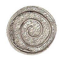 Emenee - Expression - Swirly Circle Knob in Antique Matte Silver