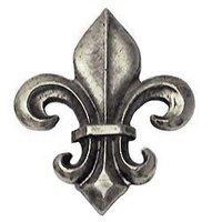 Emenee - Charisma - Fleur De Lis Knob in Antique Bright Silver