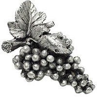Emenee - Harvest - Grapes Knob in Warm Pewter