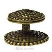 Emenee - Medici - Basketweave Knob in Aged Brass