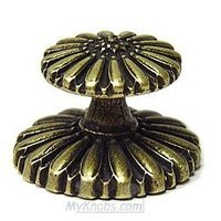 Emenee - Medici - Fluted Knob in Aged Brass
