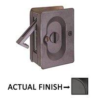 Emtek Hardware - Door Accessories - Privacy Pocket Door Lock in Flat Black