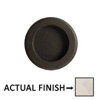"Emtek Hardware - Door Accessories - 2 1/2"" Diameter Round Recessed Pull in Flat Black"