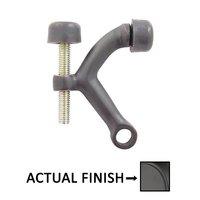 Emtek Hardware - Door Accessories - Brass Door Hinge Pivot Stop in Flat Black