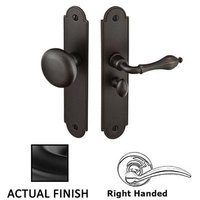Emtek Hardware - Door Accessories - Right Hand Arch Style Screen Door Lock in Flat Black