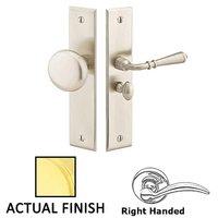 Emtek Hardware - Door Accessories - Right Hand Rectangular Style Screen Door Lock in Lifetime Brass