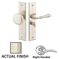 Emtek Hardware - Door Accessories - Right Hand Rectangular Style Screen Door Lock in Tumbled White Bronze