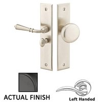 Emtek Hardware - Door Accessories - Left Hand Rectangular Style Screen Door Lock in Flat Black