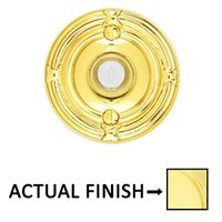 Emtek Hardware - Door Accessories - Illuminated Ribbon & Reed Door Bell in Unlacquered Brass