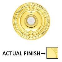Emtek Hardware - Door Accessories - Illuminated Ribbon & Reed Door Bell in Unlacquered Brass