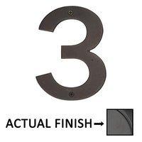 "Emtek Hardware - House Numbers - #3 Bronze 4"" House Number in Flat Black Bronze"