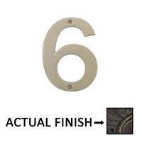 "Emtek Hardware - House Numbers - #6 Bronze 4"" House Number in Medium Bronze"
