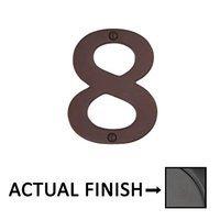 "Emtek Hardware - House Numbers - #8 Bronze 4"" House Number in Flat Black Bronze"