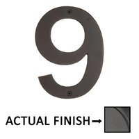 "Emtek Hardware - House Numbers - #9 Bronze 4"" House Number in Flat Black"
