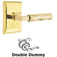 Emtek Hardware - Select Levers - Double Dummy Tribeca Lever with L-Square Stem and Neos Rose in Oil Rubbed Bronze