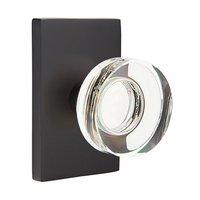 Emtek Hardware - Crystal Door Hardware - Modern Disc Crystal Privacy Door Knob with Modern Rectangular Rose in Oil Rubbed Bronze