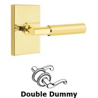 Emtek Hardware - Select Levers - Double Dummy Faceted Lever with T-Bar Stem and Modern Rectangular Rose in Oil Rubbed Bronze