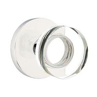 Emtek Hardware - Crystal Door Hardware - Modern Disc Crystal Privacy Door Knob with Disk Rose in Oil Rubbed Bronze