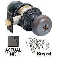 Emtek Hardware - Keyed Knobs and Levers Hardware - Keyed Providence Knob With Regular Rose in Oil Rubbed Bronze