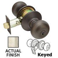 Emtek Hardware - Keyed Knobs and Levers Hardware - Keyed Winchester Knob With #2 Rose in Flat Black Bronze