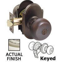 Emtek Hardware - Keyed Knobs and Levers Hardware - Keyed Providence Knob With #8 Rose in Oil Rubbed Bronze