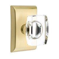Emtek Hardware - Crystal Door Hardware - Windsor Passage Door Knob with Neos Rose in Oil Rubbed Bronze