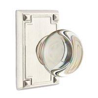 Emtek Hardware - Crystal Door Hardware - Providence Privacy Door Knob with Arts & Crafts Rectangular Rose in Oil Rubbed Bronze