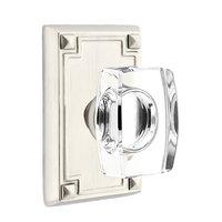 Emtek Hardware - Crystal Door Hardware - Windsor Privacy Door Knob with Arts & Crafts Rectangular Rose in Oil Rubbed Bronze