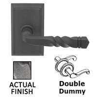 Emtek Hardware - Wrought Steel Door Hardware - Double Dummy San Carlos Lever With #3 Rosette in Flat Black Steel