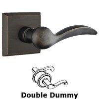 Emtek Hardware - Sandcast Bronze Door Hardware - Privacy Left Handed Durango Lever With #6 Rose in Flat Black Bronze
