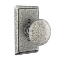 Emtek Hardware - Wrought Steel Door Hardware - Passage Jamestown Knob With #3 Rosette in Flat Black Steel