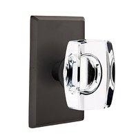 Emtek Hardware - Crystal Door Hardware - Windsor Passage Door Knob with #3 Rose in Medium Bronze