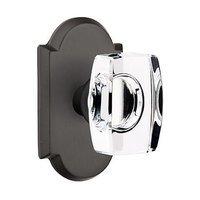 Emtek Hardware - Crystal Door Hardware - Windsor Passage Door Knob with #1 Rose in Medium Bronze