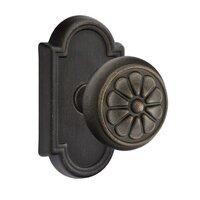 Emtek Hardware - Tuscany Door Hardware - Double Dummy Petal Knob With #11 Rose in Flat Black Bronze