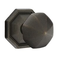 Emtek Hardware - Tuscany Door Hardware - Privacy Octagon Knob With #15 Rosette in Flat Black Bronze