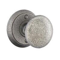 Emtek Hardware - Wrought Steel Door Hardware - Privacy Jamestown Knob With #2 Rose in Flat Black Steel