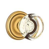 Emtek Hardware - Crystal Door Hardware - Georgetown Privacy Door Knob with Regular Rose in Satin Nickel