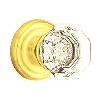 Emtek Hardware - Crystal Door Hardware - Single Dummy Old Town Door Knob with Regular Rose in Oil Rubbed Bronze
