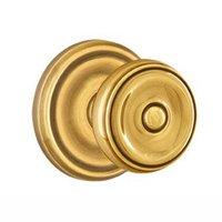 Emtek Hardware - Brass Classic Hardware - Privacy Waverly Door Knob With Regular Rosein Oil Rubbed Bronze