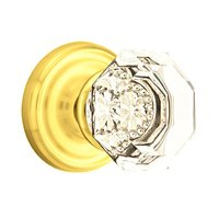 Emtek Hardware - Crystal Door Hardware - Old Town Privacy Door Knob with Regular Rose in Oil Rubbed Bronze