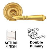 Emtek Hardware - Brass Classic Hardware - Double Dummy Turino Door Lever With Regular Rosette in Polished Nickel