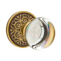 Emtek Hardware - Crystal Door Hardware - Providence Privacy Door Knob with Lancaster Rose in Oil Rubbed Bronze