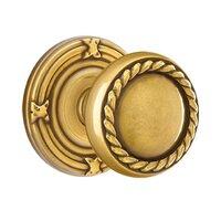 Emtek Hardware - Brass Designer Knobs - Privacy Rope Knob With Ribbon & Reed Rose in Oil Rubbed Bronze