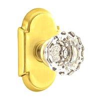 Emtek Hardware - Crystal Door Hardware - Astoria Privacy Door Knob with #8 Rose in Oil Rubbed Bronze