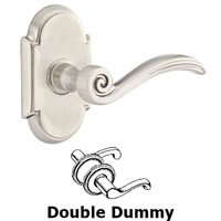 Emtek Hardware - Brass Designer Levers - Double Dummy Elan Lever With #8 Rose in Oil Rubbed Bronze