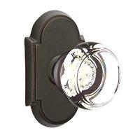 Emtek Hardware - Crystal Door Hardware - Georgetown Privacy Door Knob with #8 Rose in Oil Rubbed Bronze