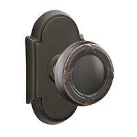 Emtek Hardware - Brass Designer Knobs - Privacy Ribbon & Reed Knob With #8 Rose in Polished Brass