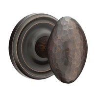 Emtek Hardware - Arts & Crafts Door Hardware - Privacy Hammered Egg Door Knob with Regular Rose in Satin Nickel