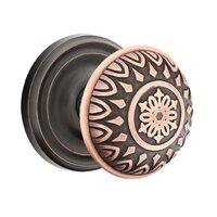Emtek Hardware - Brass Designer Knobs - Privacy Lancaster Knob With Regular Rose in Polished Brass