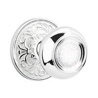 Emtek Hardware - Brass Designer Knobs - Privacy Belmont Knob With Lancaster Rose in Polished Brass